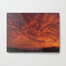Red Sky Metal Print