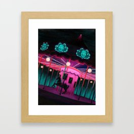 Pink and Purple Carnival Framed Art Print