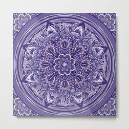 Great Purple Mandala Metal Print
