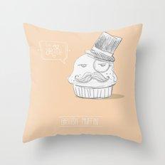british muffin Throw Pillow