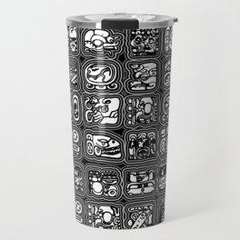 Mayan Temple B&W Travel Mug