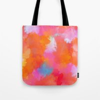 blush Tote Bags featuring blush by Lasse Egholm