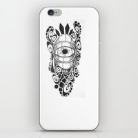 evil eye iPhone & iPod Skins featuring Evil Eye by King Catastropa