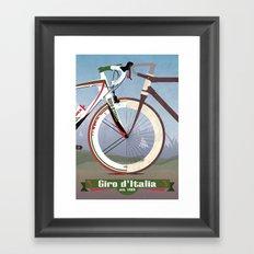 GIRO D'ITALIA  Framed Art Print