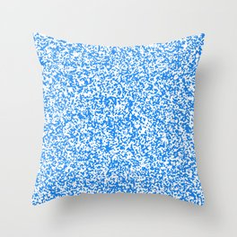 Tiny Spots - White and Dodger Blue Throw Pillow