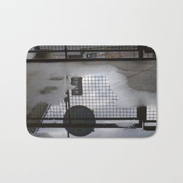 Grid Iron Reflection Bath Mat