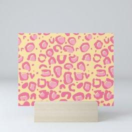 Leopard Skin Inspire Pattern Yellow and Pink Mini Art Print