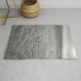 Fly, Roam, Discover! - Above the Clouds black and white photography / photographs wall decor Rug
