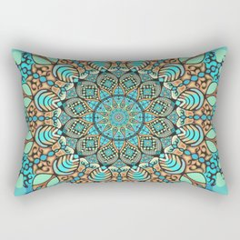 Zentangle Mandala 180218 - Bohemian Mandala Rectangular Pillow