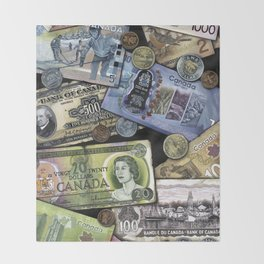 Birthday Money Throw Blanket