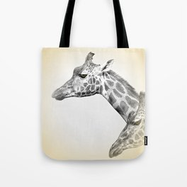 Giraffes With A Hint Of Colour Tote Bag