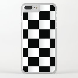 BLACK AND WHITE SQUARES Abstract Art Clear iPhone Case