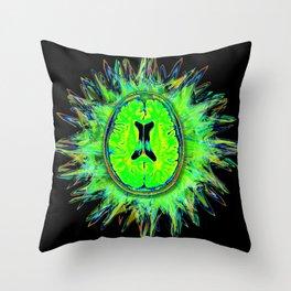Brain storm Throw Pillow