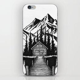Lake cabin iPhone Skin