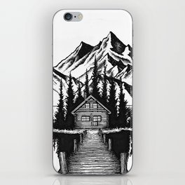 Lake cabin iPhone Skin