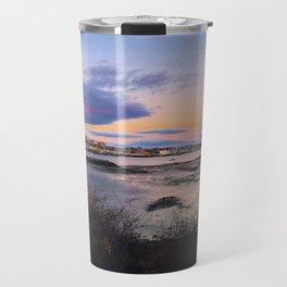 Sunset Panorama of the Portland, Maine Skyline Travel Mug