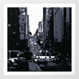 San Francisco Street PIXELATED Art Print