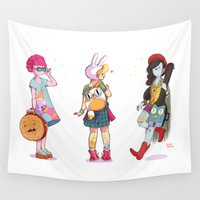 marceline Wall Tapestries featuring Personal Backpacks by Judith Chamizo