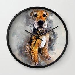 Patterdale Terrier Wall Clock