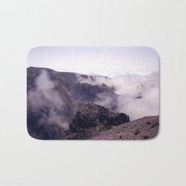 Mountain view in de clouds Bath Mat