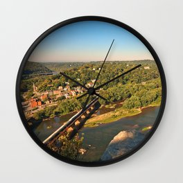 Harpers Ferry & Potomac River Overlook Wall Clock