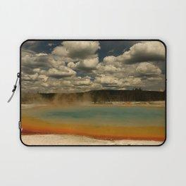 Sunset Lake Under A Cloudy Sky Laptop Sleeve