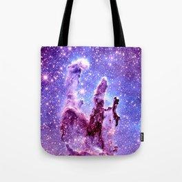 Galaxy Nebula : Pillars of creation Tote Bag