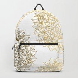 Hand Drawn Gold Mandala Backpack