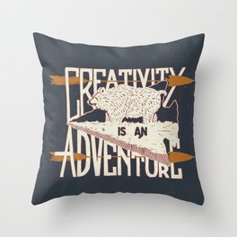 Creativity is an Adventure Throw Pillow
