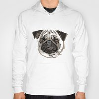 pug Hoodies featuring Pug by Tish