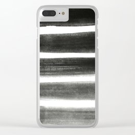 Shades of Gray Clear iPhone Case