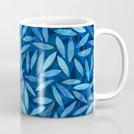 Indigo Botanical Pattern Coffee Mug