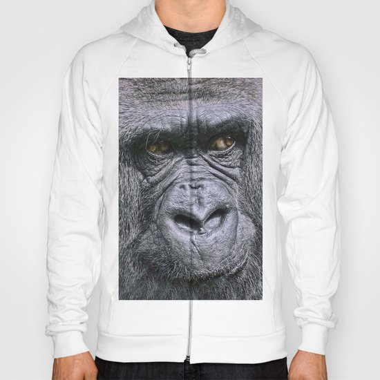 Portrait of a female Gorilla Hoody