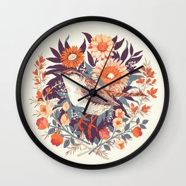 Wren Day Wall Clock
