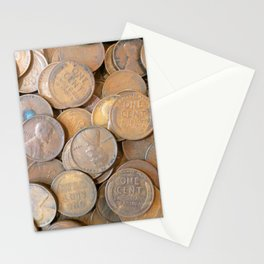 Watercolor Coins, Lincoln Wheat Pennies, 1934 01 Stationery Cards
