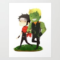 young avengers Art Prints featuring Young Avengers by Tae V