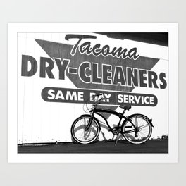 Local dry cleaners Art Print