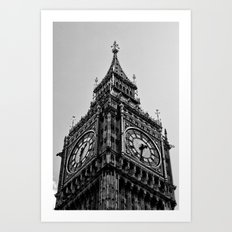 Big Ben | London . B/W Art Print