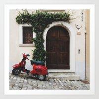 vespa Art Prints featuring Vespa by Simone Enei