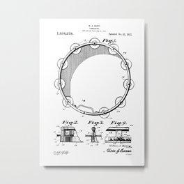 patent art Barry Tambourine 1922 Metal Print