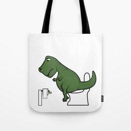 TRex dinosaur arms toilet funny gift Tote Bag