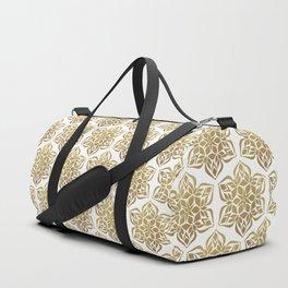 Gold Snowflake Duffle Bag