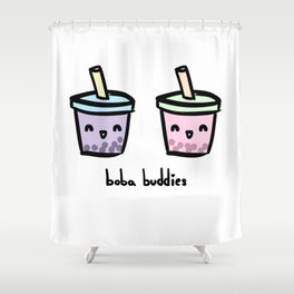 Boba Buddies Shower Curtain