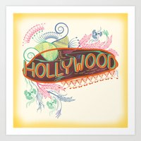 decorative Art Prints featuring Decorative Typographic by famenxt