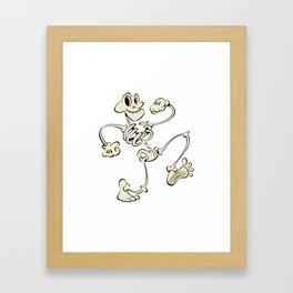 Keep on Truckin' Skeleton Framed Art Print