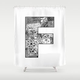 Cutout Letter F Shower Curtain
