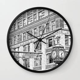 Father Time Clock in the Windy City. Wall Clock