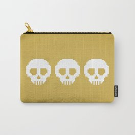 Pixel Skulls - Gold Carry-All Pouch