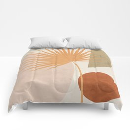 Tropical Leaf- Abstract Art 49a Comforters