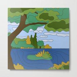 River Landscape Metal Print